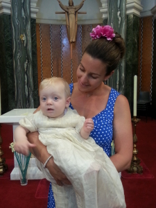Little B's christening