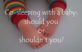 Co-sleeping with a baby