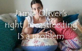 Jamie Oliver breastfeeding