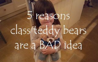 5 reasons class teddy bears are a BAD idea