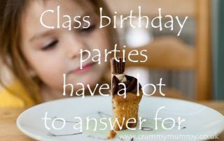 Class birthday parties have a lot to answer for