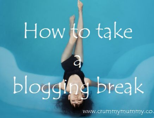 How to take a blogging break
