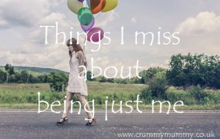 Things I miss about being just me