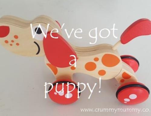 We've got a puppy!