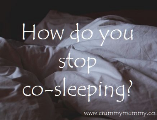 How do you stop co-sleeping?