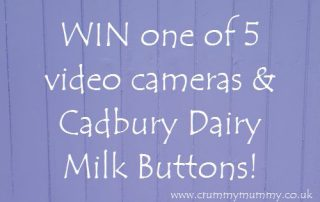 WIN one of 5 video cameras & Cadbury Dairy Milk Buttons