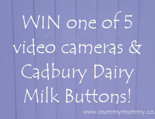 WIN one of 5 video cameras & Cadbury Dairy Milk Buttons!