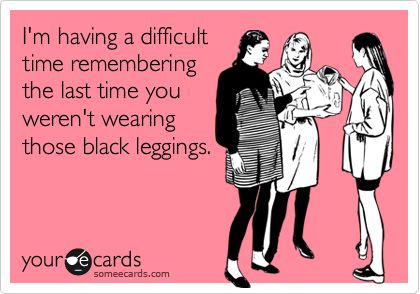 Black leggings meme