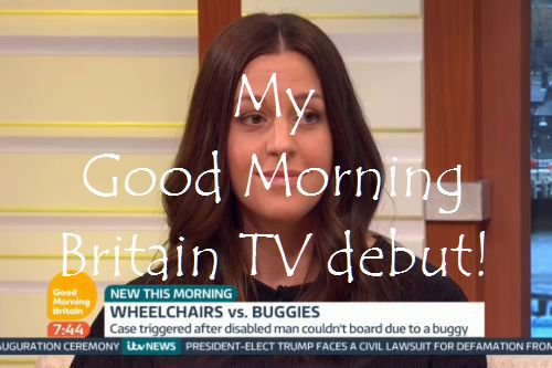 My Good Morning Britain TV debut