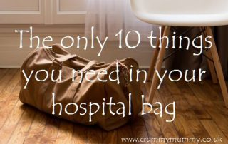 The only 10 things you need in your hospital bag
