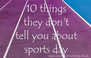 10 things they don't tell you about sports day