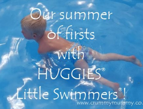Our summer of firsts with HUGGIES® Little Swimmers®! #ad