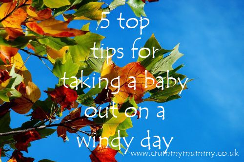 5 top tips for taking a baby out on a windy day