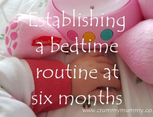 Establishing a bedtime routine at six months