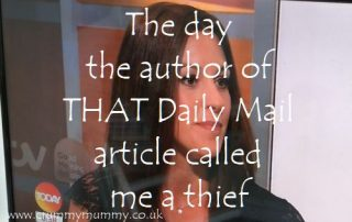The day the author of THAT Daily Mail article called me a thief 1