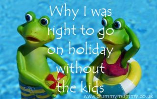 Why I was right to go on holiday without the kids