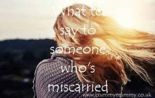 What to say to someone who's miscarried