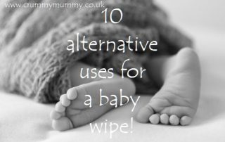 10 alternative uses for a baby wipe!