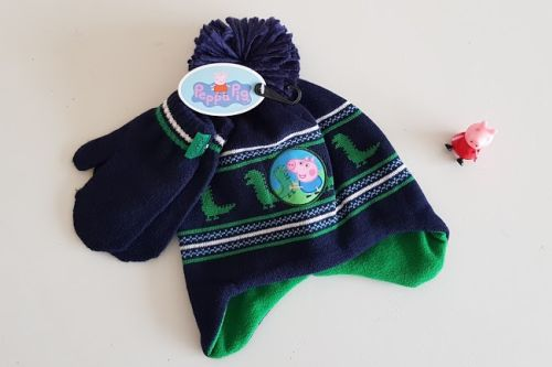 Peppa Pig hat & mittens set