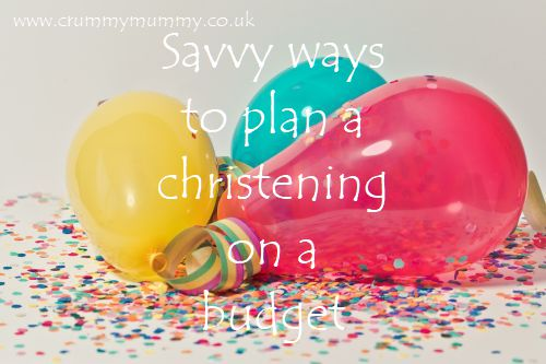 christening on a budget