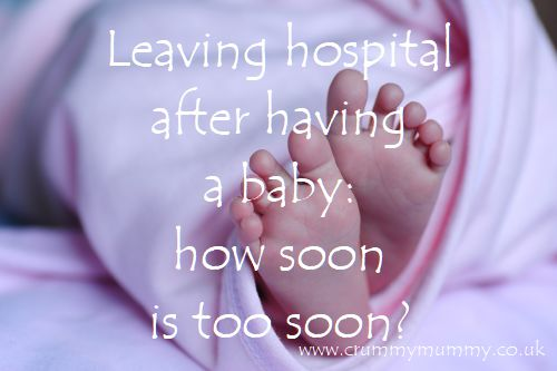 Leaving hospital after having a baby