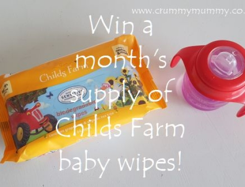 Win a month's supply of Childs Farm baby wipes!