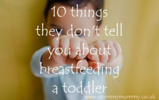 breastfeeding a toddler