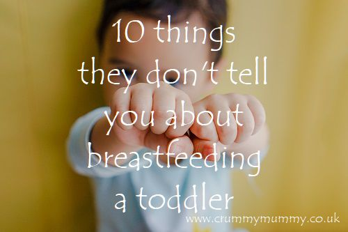 breastfeeding a toddler