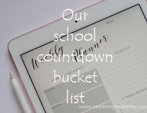 Our school countdown bucket list