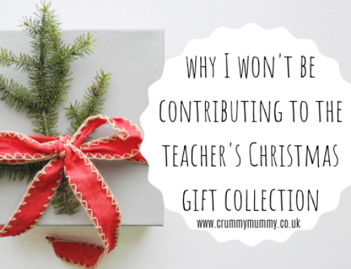 Why I won't be contributing to the teacher's Christmas gift collection