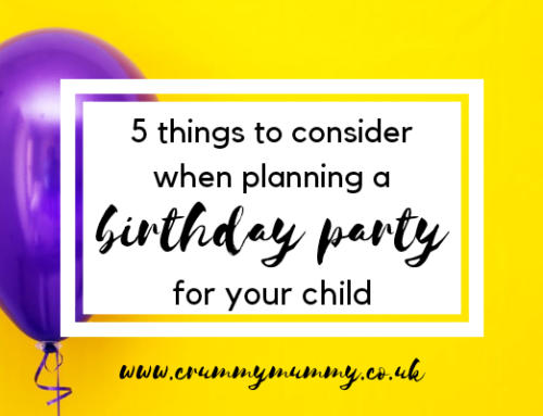 5 things to consider when planning a birthday party for your child