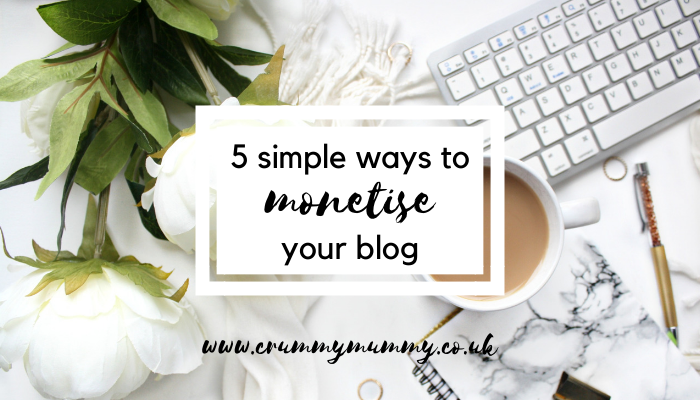 monetise your blog