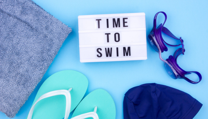 lose weight swimming