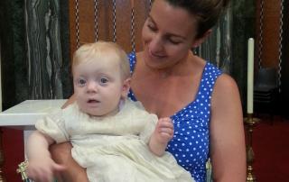 Little B's christening