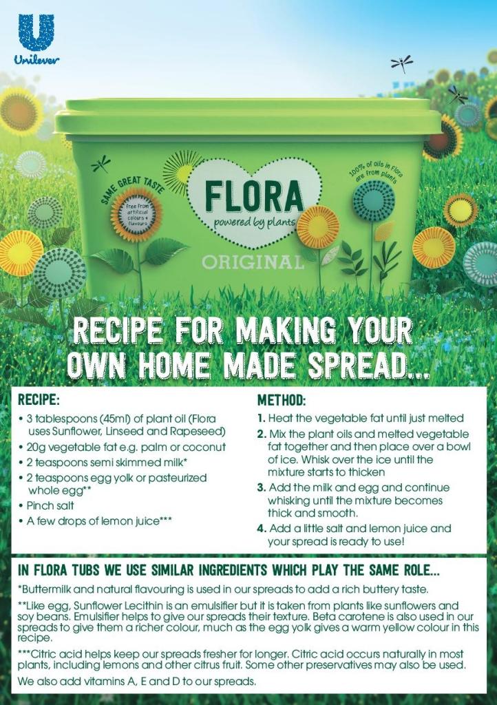 Flora spread recipe