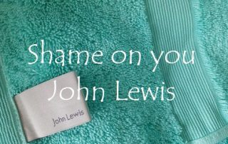 Shame on you John Lewis
