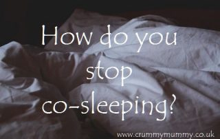 How do you stop co-sleeping