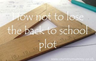 How not to lose the back to school plot