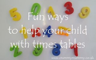 Fun ways to help your child with times tables