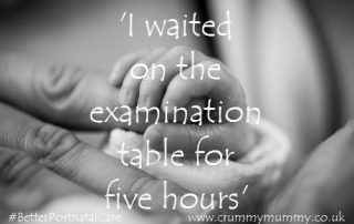 'I waited on the examination table for five hours'