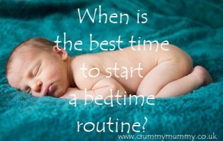 When is the best time to start a bedtime routine