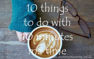 10 things to do with 10 minutes me time