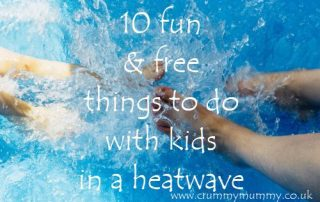 fun & free things to do with kids in a heatwave