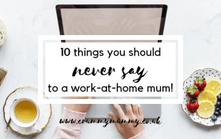 work-at-home mum