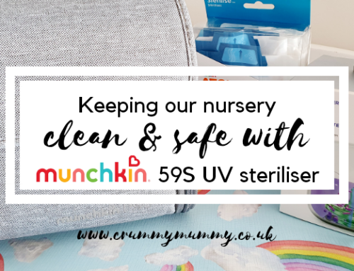 Keeping our nursery clean & safe with Munchkin's 59S UV steriliser #ad