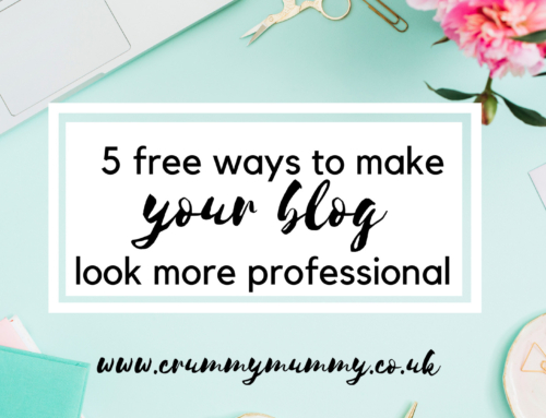 5 free ways to make your blog look more professional #ad