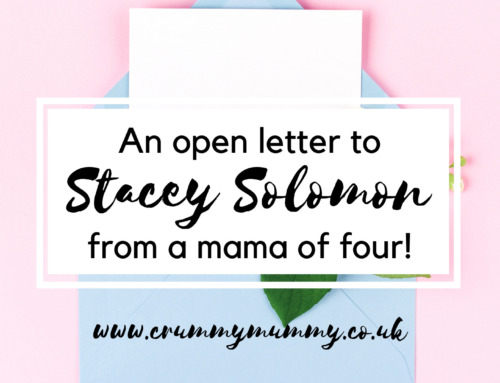 An open letter to Stacey Solomon from a mama of four!